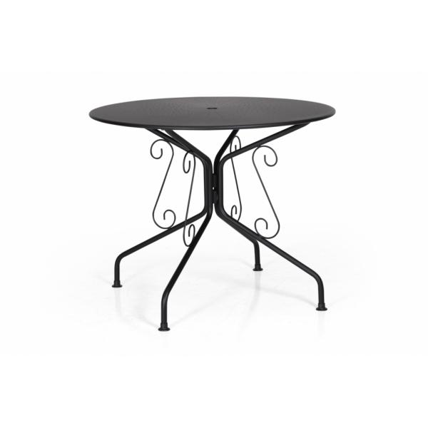 Odessa café bord Ø 95 svart Hultarps Inne & Utemöbler